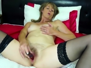 Real Euro mother with thirsty hairy cunt
