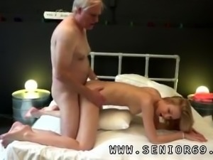 German old and young threesome Alice is horny, but Daniel wants to go to