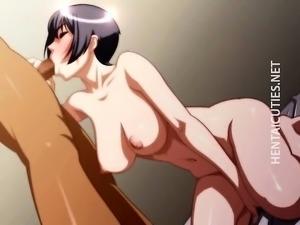Brunette 3D anime slut suck dick