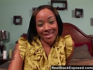 RealBlackExposed - She Takes Every Inch of Shorty Mac s Massive Cock