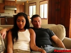 Ebony tramp rough fucked and deepthroats cock