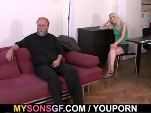 Father in law punishes son s girl