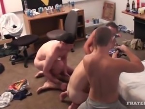 College boys use a pussy fag to get their rocks off