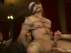 Tied HandJob and Post Orgasm
