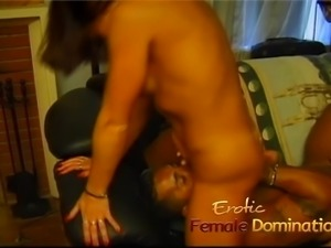Two lusty playgirls suck and ride on a massive cock