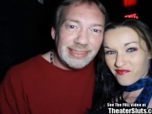 Hottie Lactating Slut Porn Theater Orgy