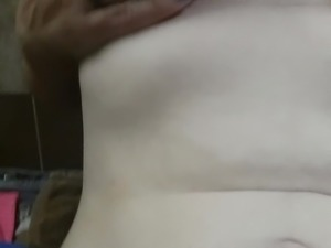 my girl doin a little tits n pussy tease after shower