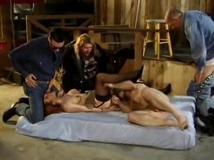 Dirty rider gang fuck slutwife
