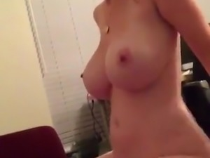 Blonde rides cock great tits