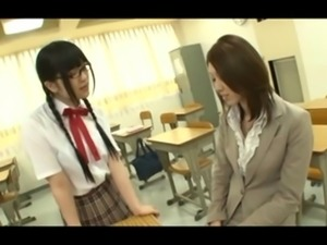 Asian Schoolgirl Makes Teacher Lesbian Slave Pet Part 19
