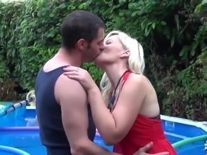 LaCochonne - Blonde slut Candys enjoys a good anal fuck