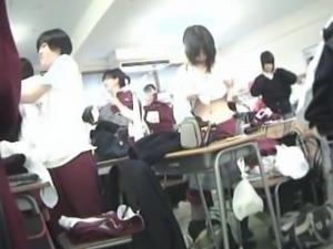 girls wearing school uniform 004