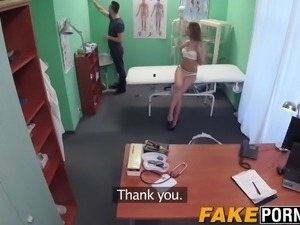Sexy nurse Denny seduces a lucky patient and rides his cock
