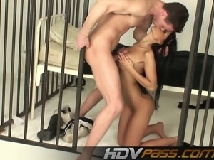 Black Angelica sex in prison