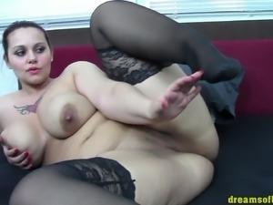 German bbw pawg samanthas bigbutt black stockings tease