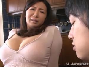Splendid Sayuri Mikami Serves A Blowjob And A Titjob