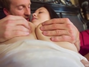 TEENFIDELITY - Noelle Easton's Huge Natural Teen Tits Bounce While Fucking