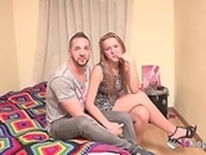 spanish amateur couple film their first anal fuck
