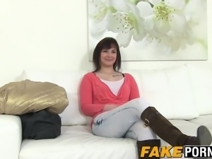 Lena shows her big booty and takes a cock in her pussy