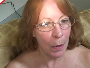 Nice bush on a busty mature babe sucking a dick