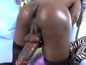Sexy shemale Kourtney Dash gives her cock a good stroking