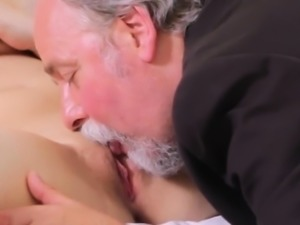 Ideal college girl was seduced and rode by her older tutor