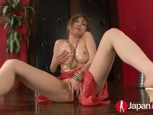 Japanese gal Ai Sakura fucks herself with favorite sex toys