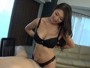 asian gives blowjob Busty