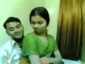 Kinky amateur Indian couple has fun while spooning each other
