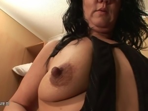 Mature mother squirts all over the place