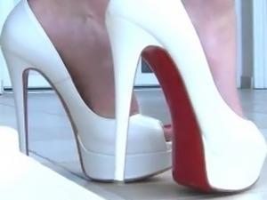Bikini & White High Heels