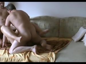 Amateur BI MMF - Sofa Sex