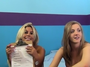 Bridgette and Kloe explore their lesbian fantasy and enjoy a hard dick