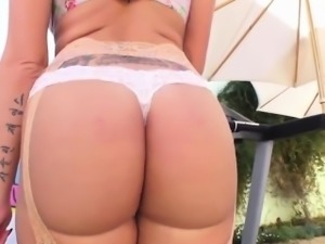 Inked blonde bint has her ass hammered