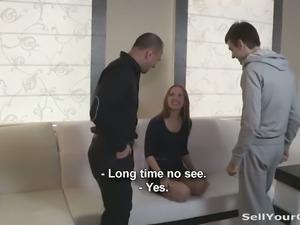 Kinky boyfriend sold his girlfriend to perverted friend