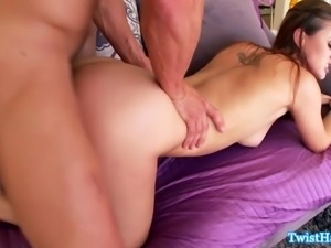 Glamour babe doggystyle pussyfucked