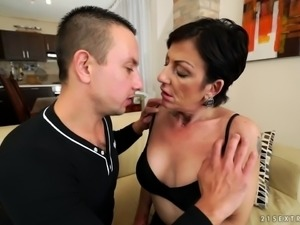 Inked granny susan loves young cock - 1 part 1
