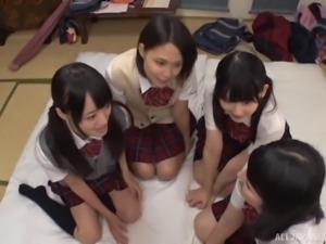 All of these Japanese ladies are in love with a single erection!
