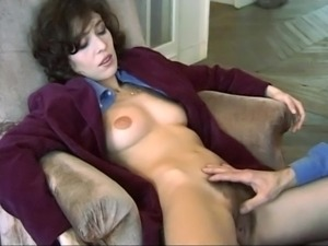 Hairy milf seduces boy