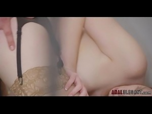 Redhead in Stockings Likes Anal Sex PornWebcamZ.com