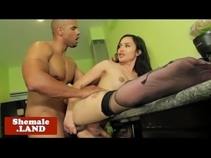 Trans beauty interracially analfucked