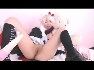 Young Skinny Asian Cosplay On Webcam