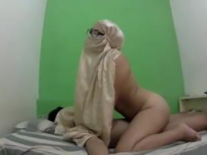 Hijab Milf blowjob and fuck NEW