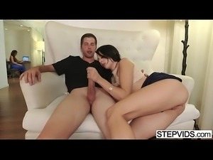 Megan Sage seduces her stepbrother
