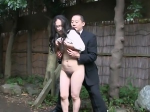 Japanese Mature outdoor