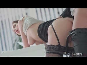 Secretary fucking with boss in lingerie sex