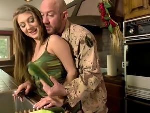 Jojo is one of those army girls who love the hard pussy pounding