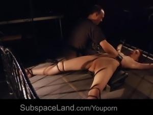 Teen sub girl humiliation bdsm training is fucked ball-gagged