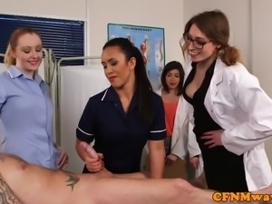 CFNM nurses cocksucking patients cock