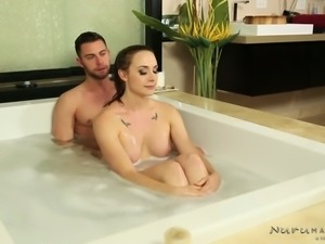 Kinky guy wishes to fuck yummy big breasted MILF Chanel Preston in massage...